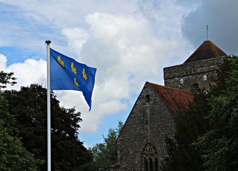 Flying the flag on Sussex day
