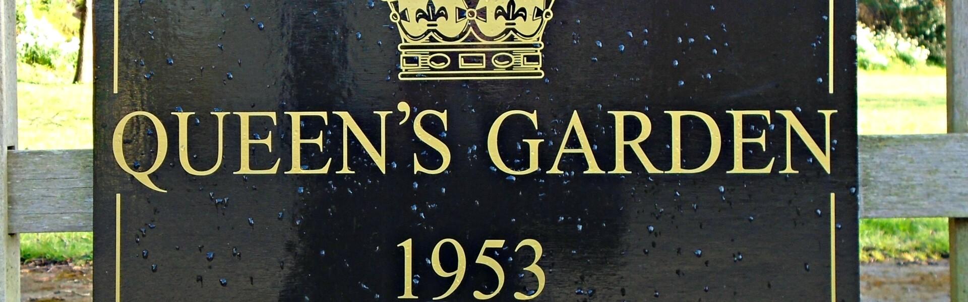 Sign, Queen's Garden 1953