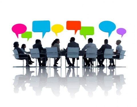 Clipart of a meeting